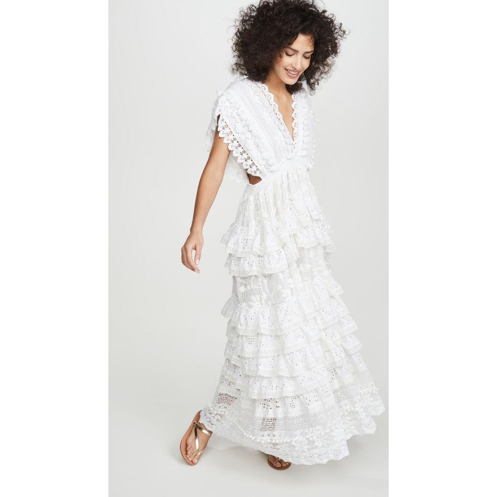 プレイスナショナル Place Nationale レディース ワンピース マキシ丈 ワンピース・ドレス【Le Savel Backless Maxi Caftan Dress】White