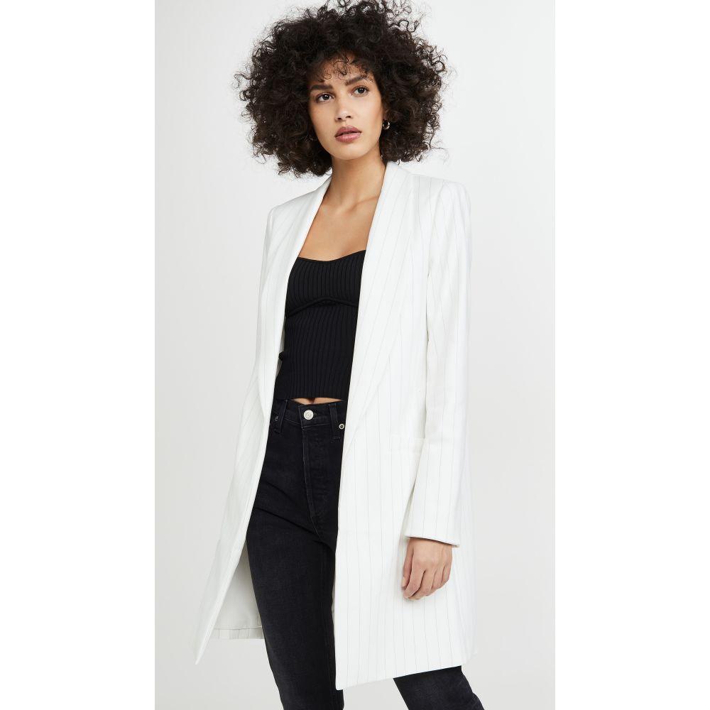 アリス アンド オリビア alice + olivia レディース ジャケット アウター【Kylie Long Easy Shawl Collar Jacket】White/Black