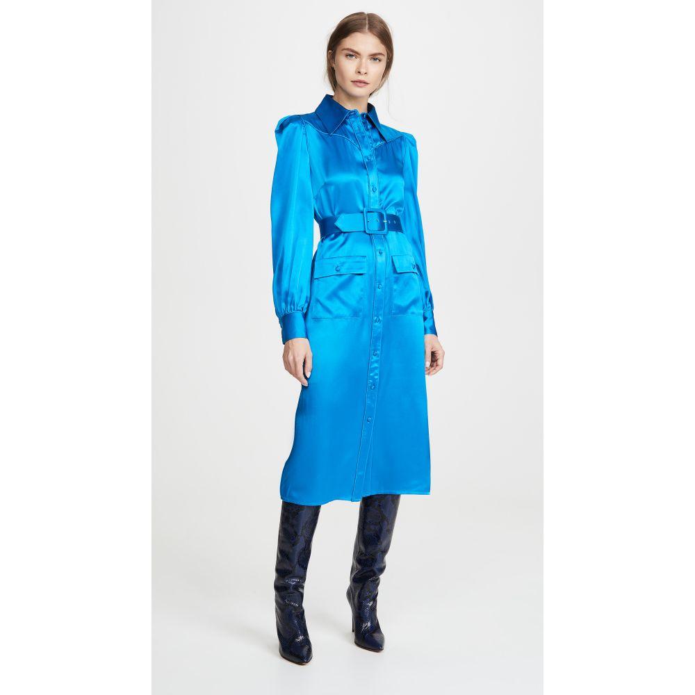 ディバイン ヘリテージ Divine Heritage レディース ワンピース シャツワンピース ワンピース・ドレス【Crepe Back Satin Shirt Dress】Azure Blue