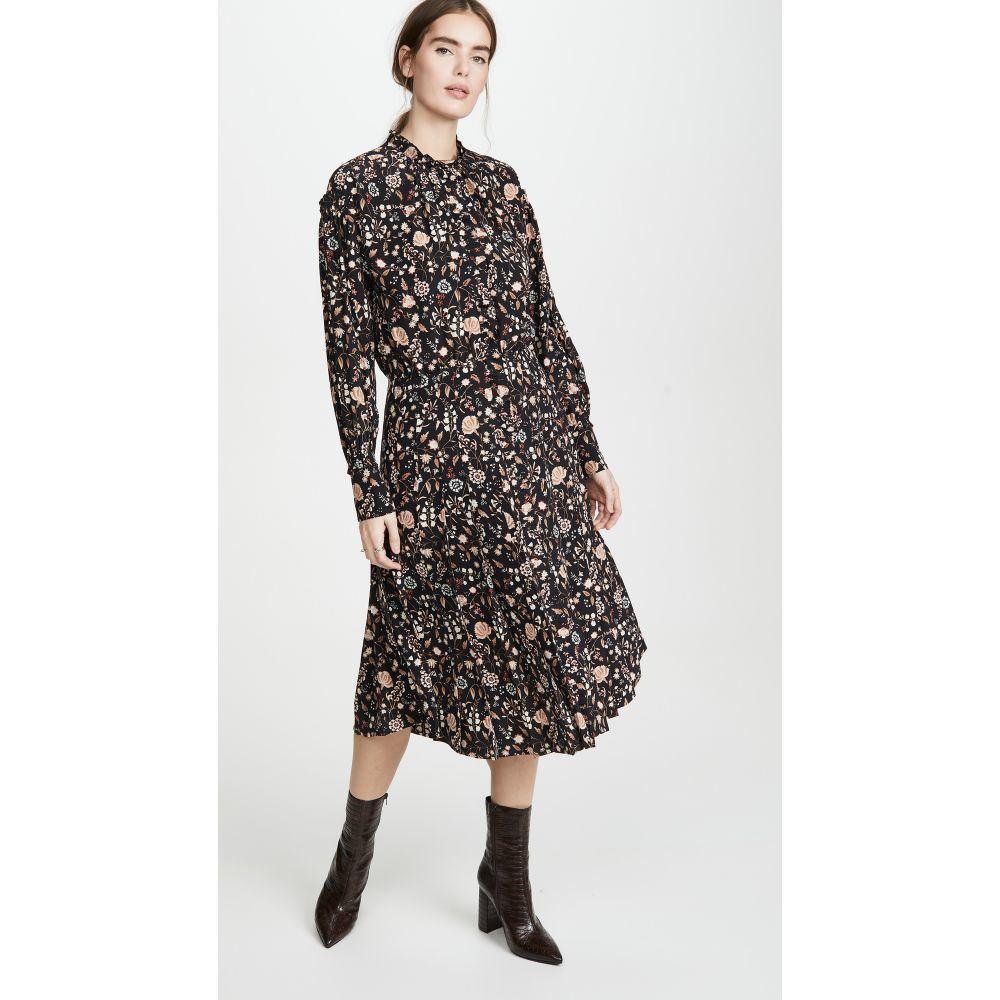 フレーム FRAME レディース ワンピース ワンピース・ドレス【Ruffle Front Dress】Noir Multi