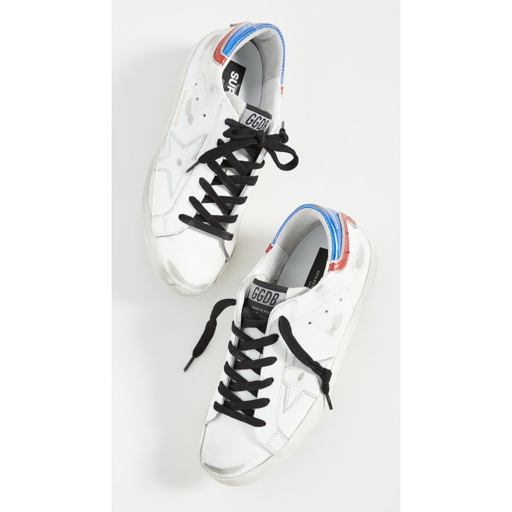 ゴールデン グース Golden Goose レディース スニーカー シューズ・靴【Superstar Sneakers】White/Blue/Red