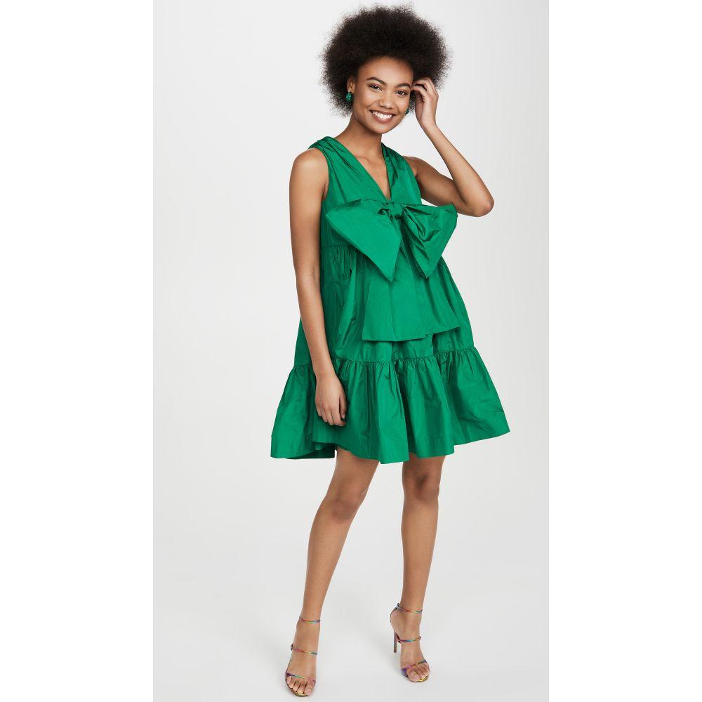 エムエスジーエム MSGM レディース ワンピース シフトドレス ワンピース・ドレス【Bow Front Shift Dress】Emerald