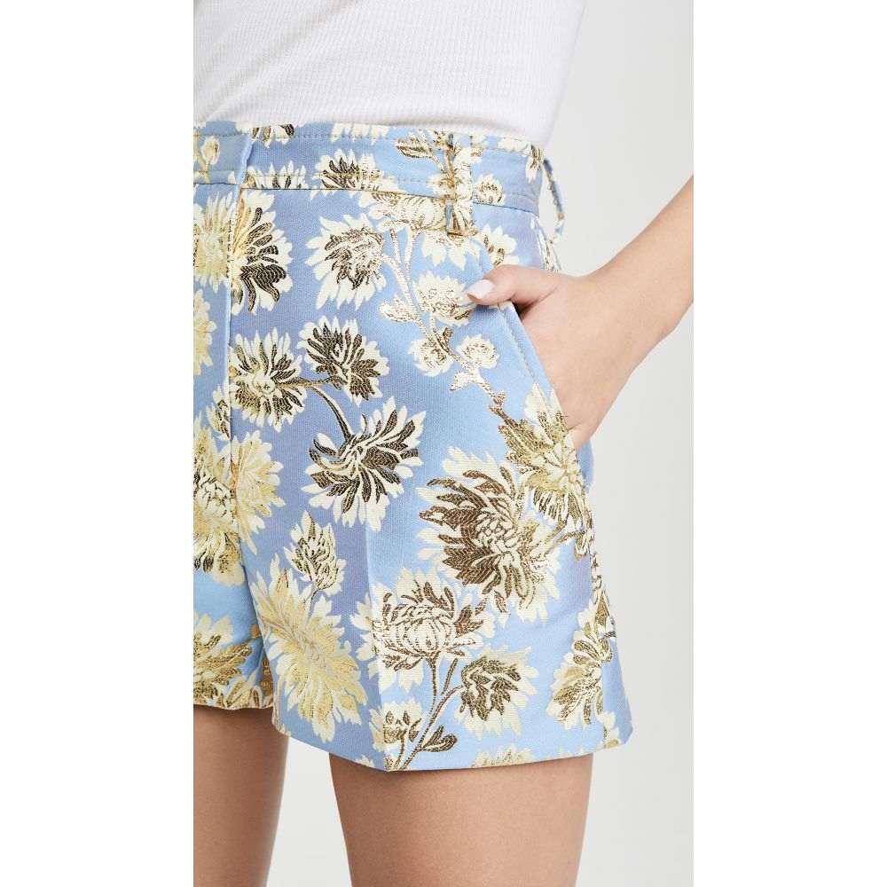 ヌメロ ヴェントゥーノ No. 21 レディース ショートパンツ ボトムス・パンツ【Metallic Floral Shorts】Blue/Yellow