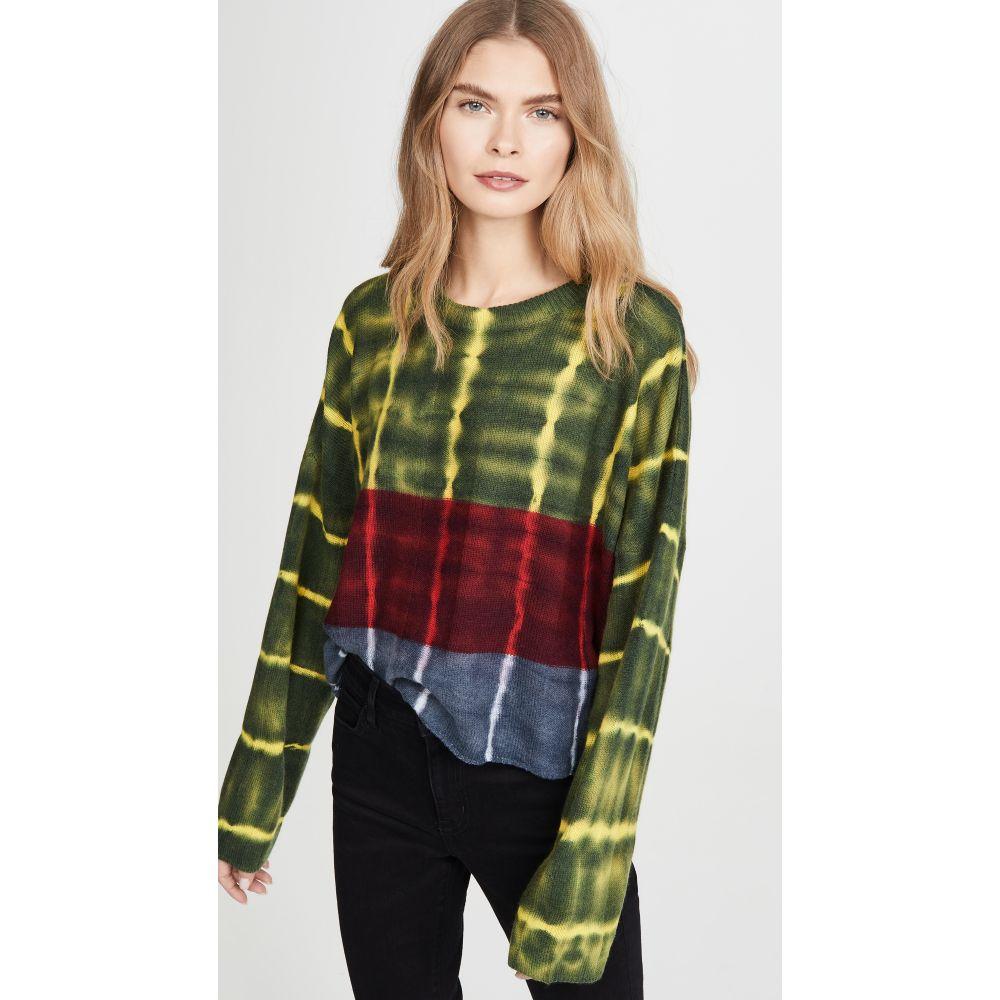 ラクエル アレグラ Raquel Allegra レディース ニット・セーター トップス【Boxy Crew Sweater】Citrus Stripe Tie Dye