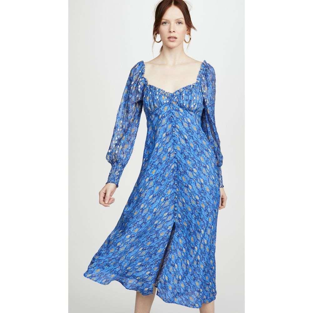 リキソ RIXO レディース ワンピース ワンピース・ドレス【Miriam Dress】Klimt Wave Eye Blue