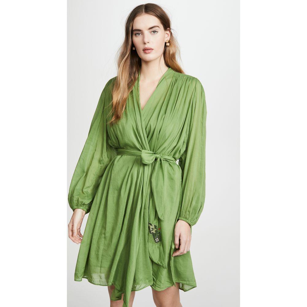 フォルテ フォルテ Forte Forte レディース ワンピース ワンピース・ドレス【Voile Embroidered Belt Dress】Aloe