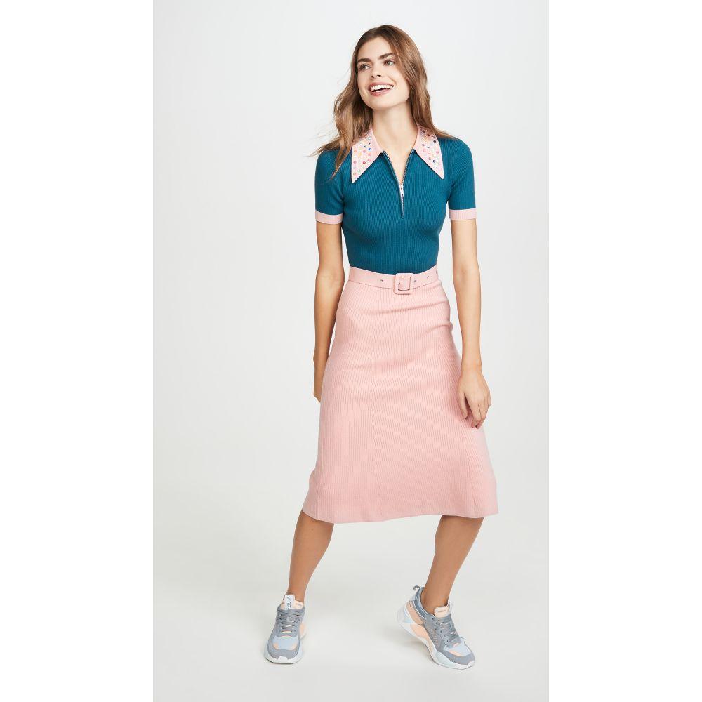 ジュース トリコット JoosTricot レディース ワンピース ワンピース・ドレス【Peachskin Dress】Peacock Shadow/Dewy Pink