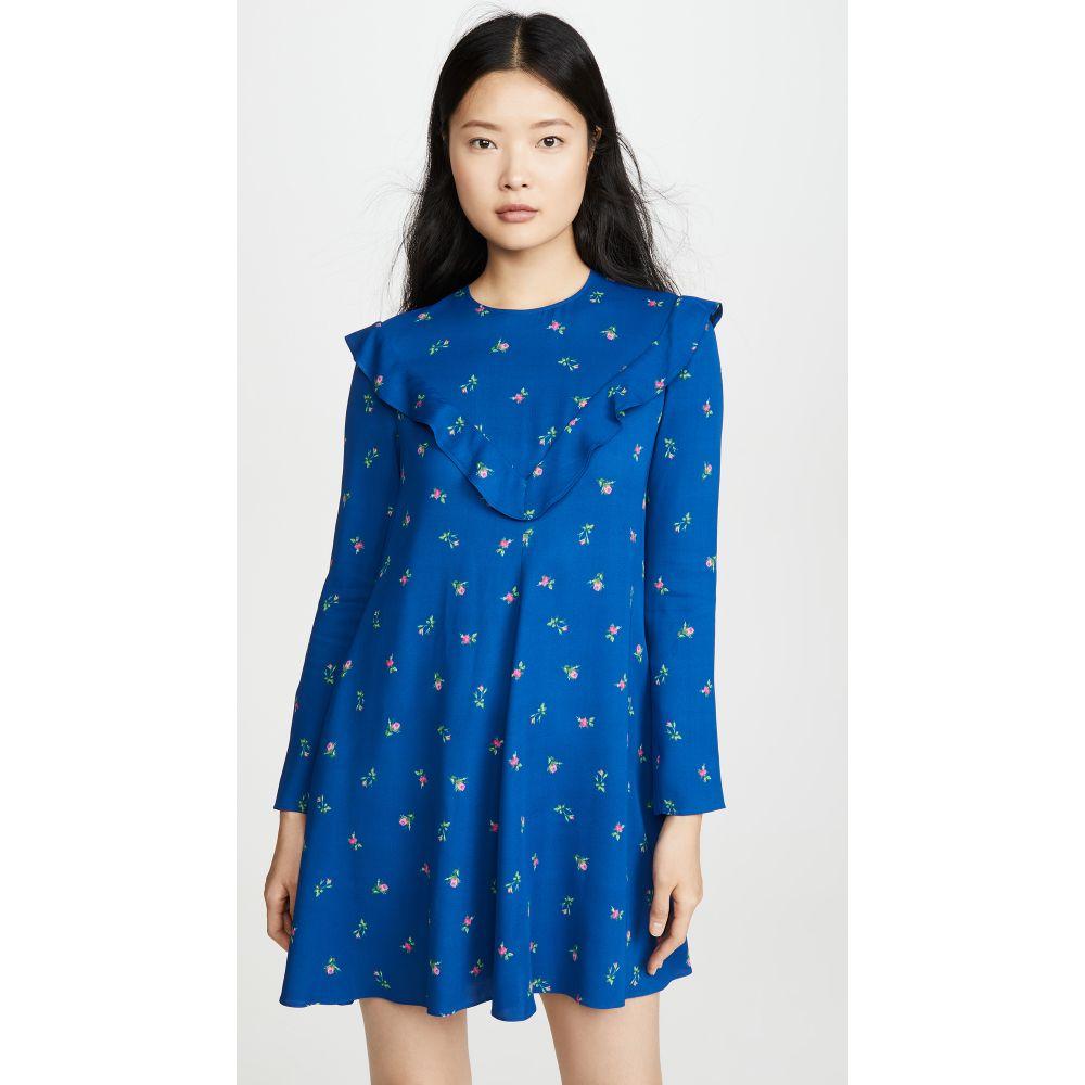 フィロソフィ ディ ロレンツォ セラフィニ Philosophy di Lorenzo Serafini レディース ワンピース ミニ丈 ワンピース・ドレス【Floral Long Sleeve Mini Dress】Fantasy Print Blue