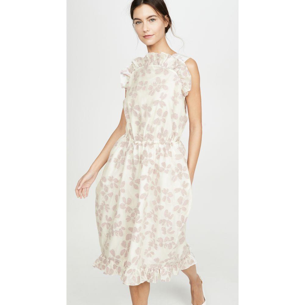 プッシュボタン pushBUTTON レディース ワンピース ワンピース・ドレス【Front Frill Point Dress】Ivory Floral