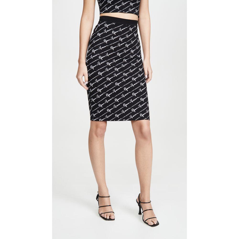 ヴェルサーチ Versace レディース スカート 【Knit Skirt】Black-White