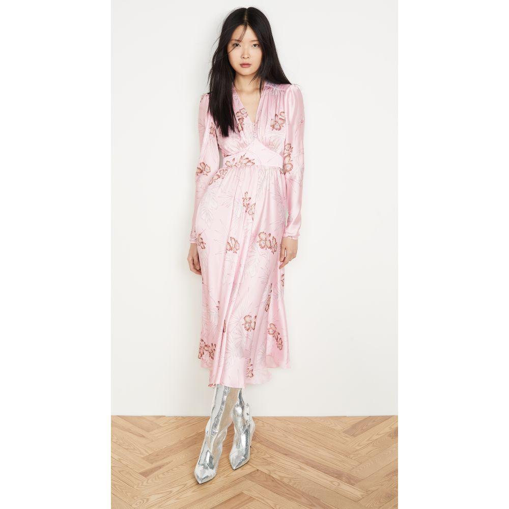 パコラバンヌ Paco Rabanne レディース ワンピース ワンピース・ドレス【Long Sleeve Hawaii Dress with Puff Sleeves】Pink