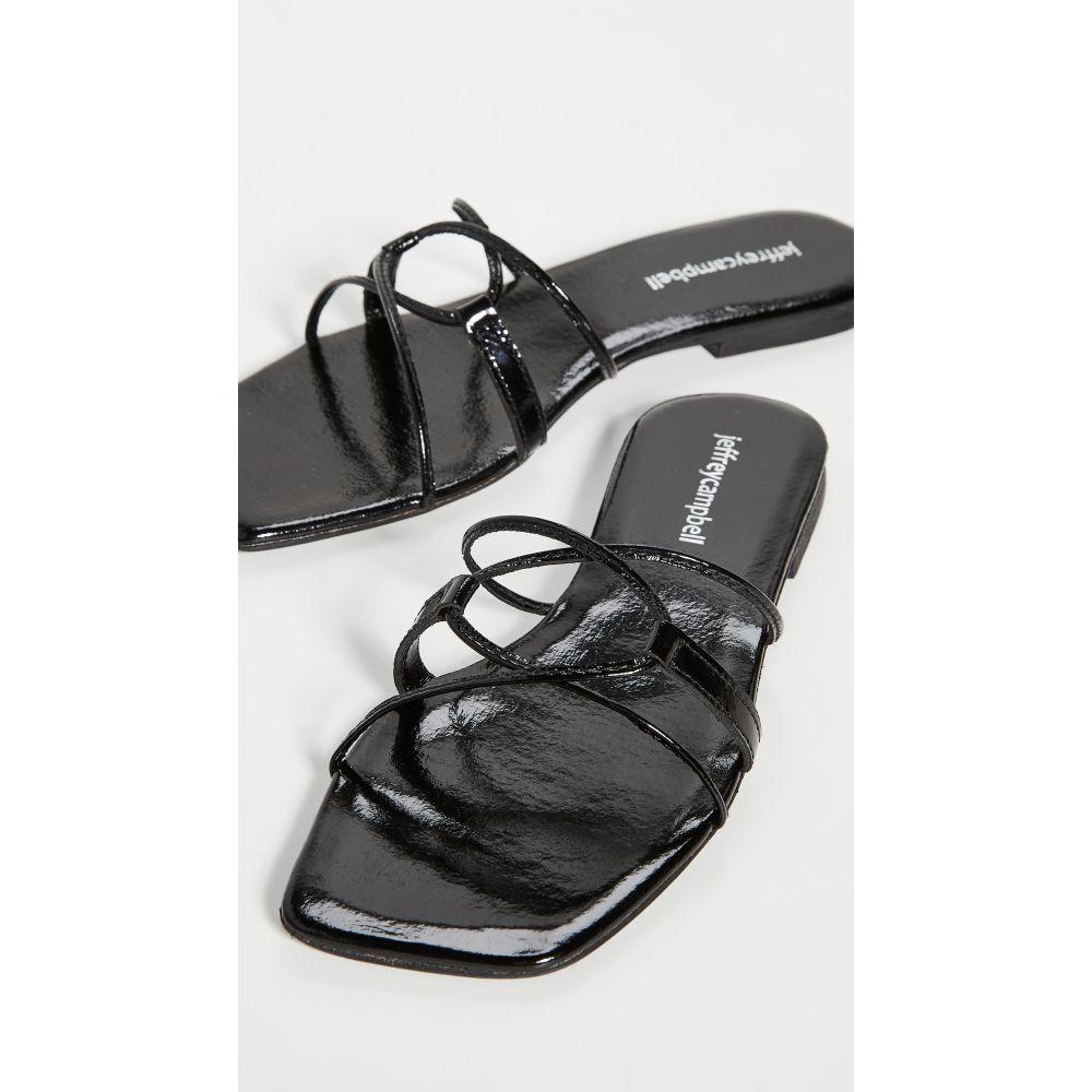 ジェフリー キャンベル Jeffrey Campbell レディース サンダル・ミュール シューズ・靴【Adison Sandals】Black Patent