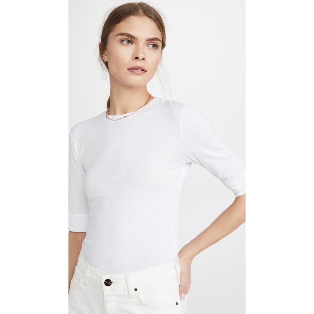 フレーム FRAME レディース Tシャツ トップス【Le High Rise 70s Tee】Blanc