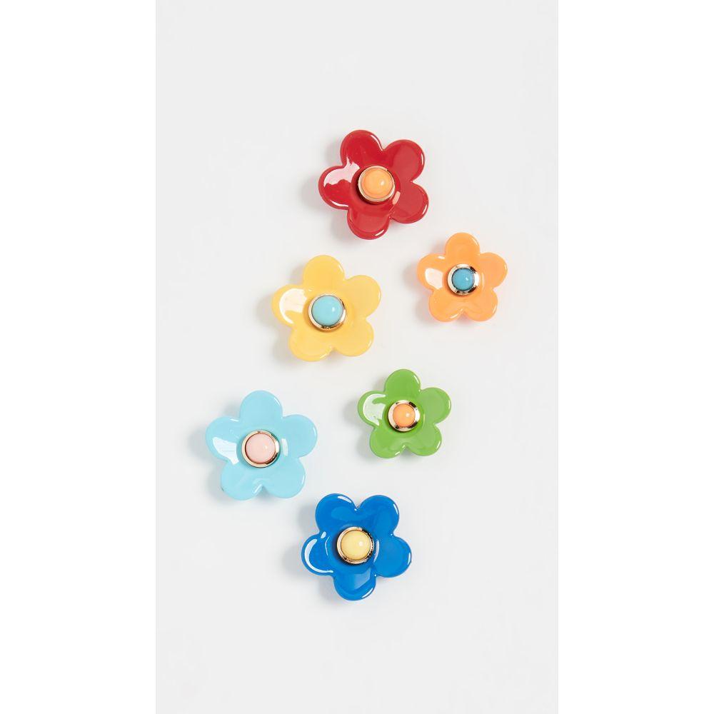 ロクサーヌ アスリーヌ Roxanne Assoulin レディース イヤリング・ピアス ジュエリー・アクセサリー【Flower Power Set of Stud Earrings】Blue/Orange/White