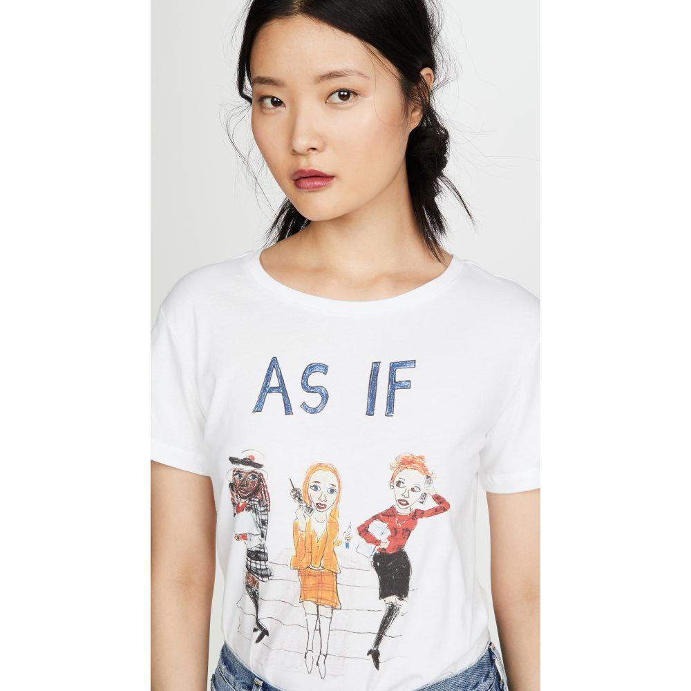 アンフォーチュネイト ポートレート Unfortunate Portrait レディース Tシャツ トップス【As If Tee】White
