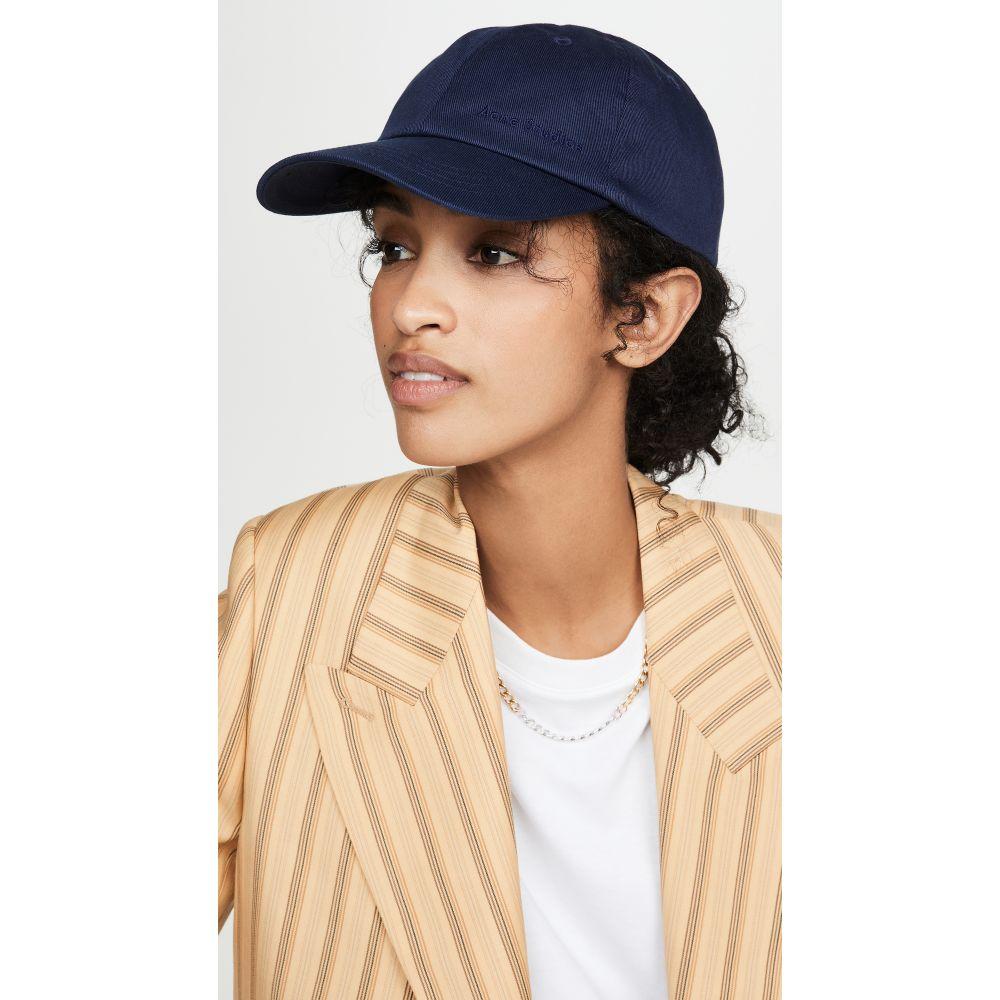 アクネ ストゥディオズ Acne Studios レディース 帽子 【Caroly Cotton Twill Hat】Navy Blue