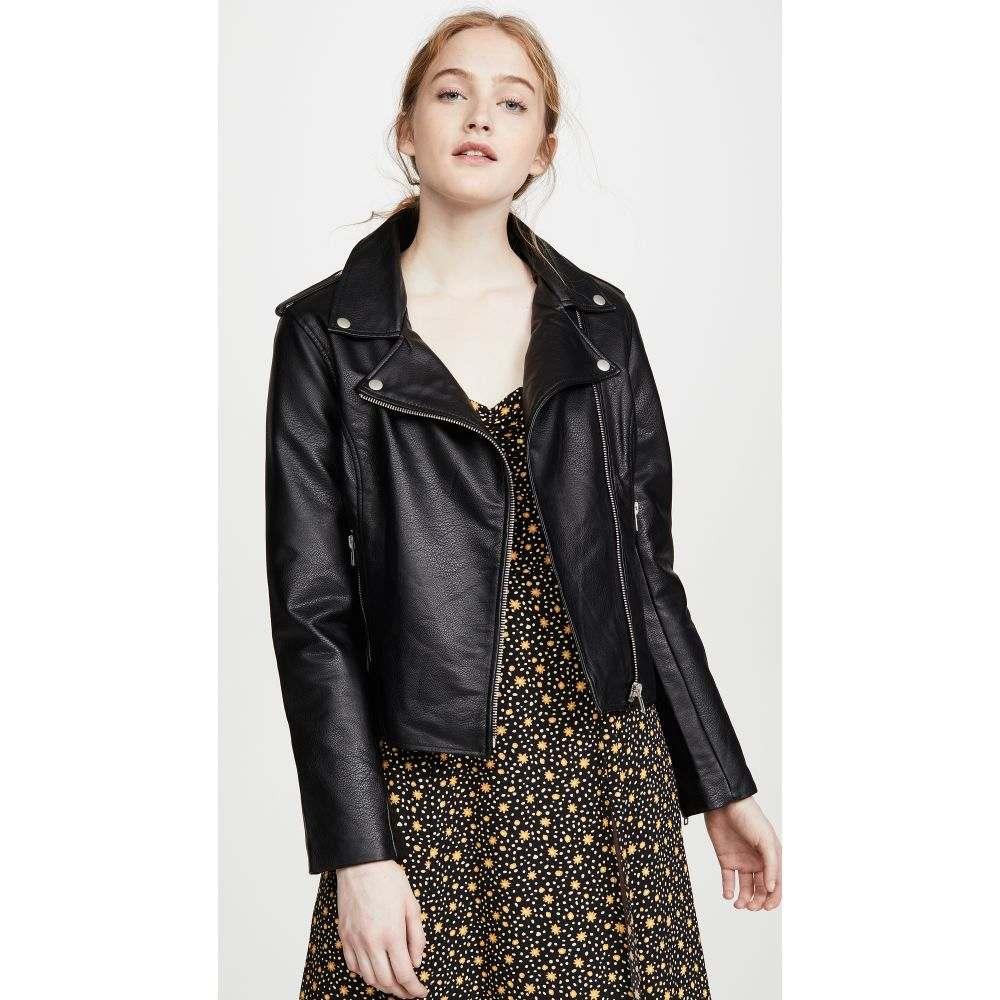 ビービーダコタ BB Dakota レディース レザージャケット アウター【Just Ride Vegan Leather Jacket】Black