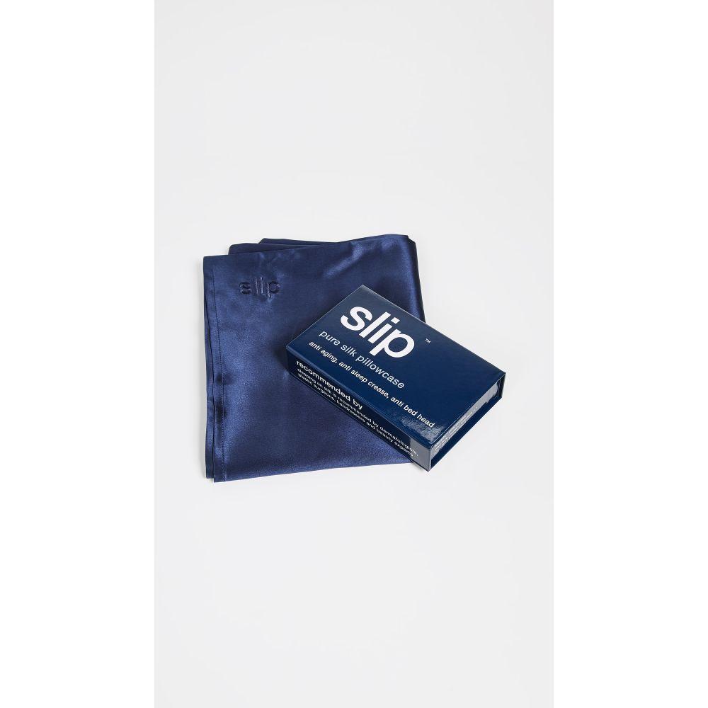 スリップ Slip レディース 雑貨 枕カバー【Silk Pure Silk Queen Pillowcase】Navy