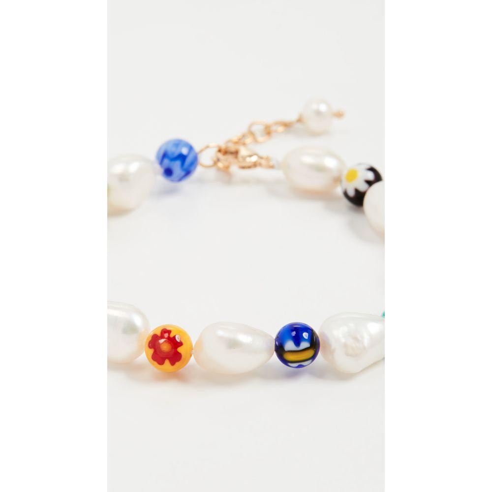 ベックジュエルズ Beck Jewels レディース ブレスレット ジュエリー・アクセサリー【Millefiori and Pearl Bracelet】Multi/Pearl
