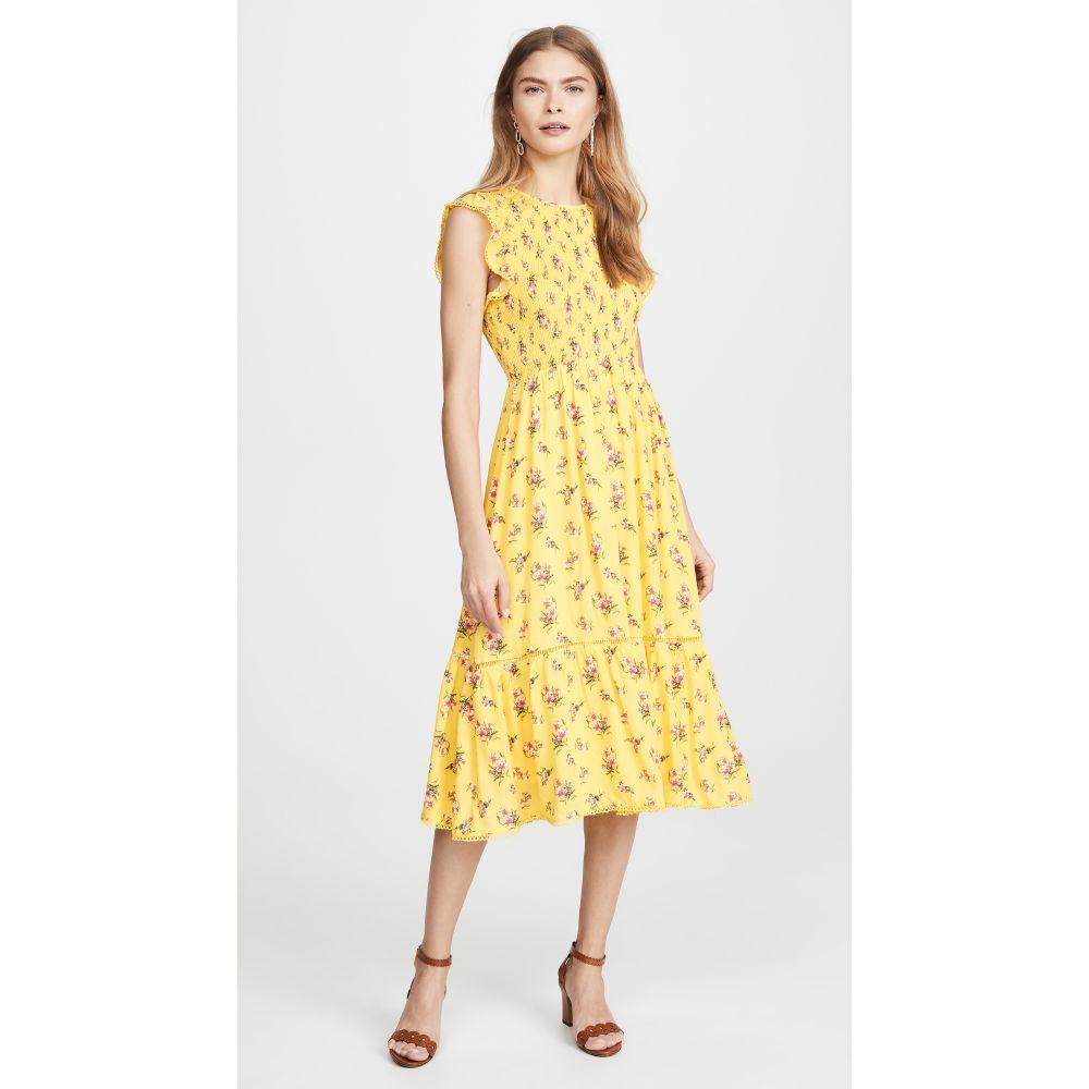 ロストアンドワンダー Lost + Wander レディース ワンピース ミドル丈 ワンピース・ドレス【Mango Tango Midi Dress】Yellow/Floral
