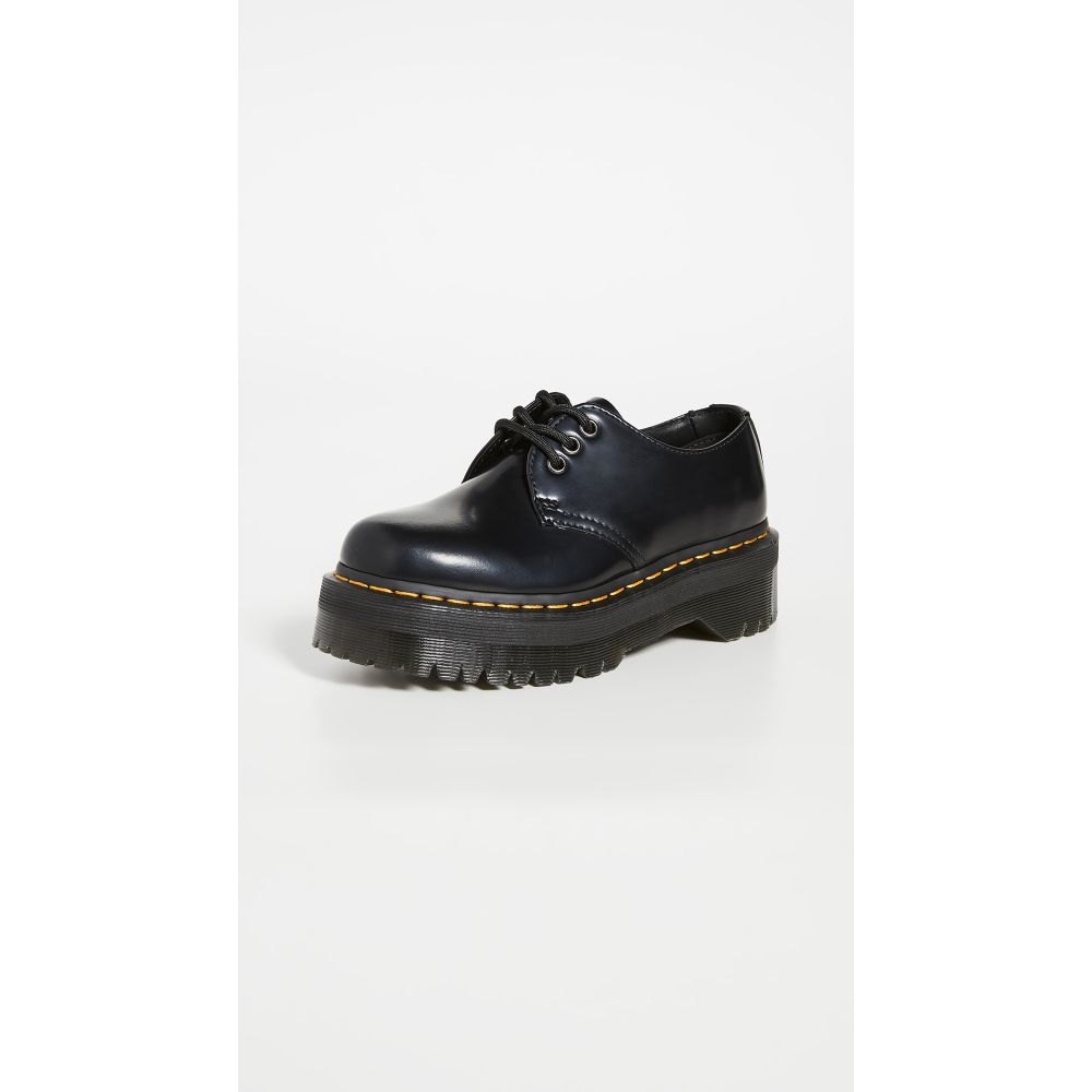 ドクターマーチン Dr. Martens レディース スリッポン・フラット レースアップ シューズ・靴【1461 Quad Lace Up Shoes】Black