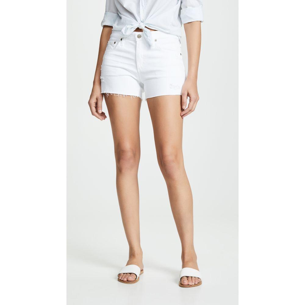 エージー AG レディース ショートパンツ ボトムス・パンツ【The Hailey Cutoff Shorts】Year Low White
