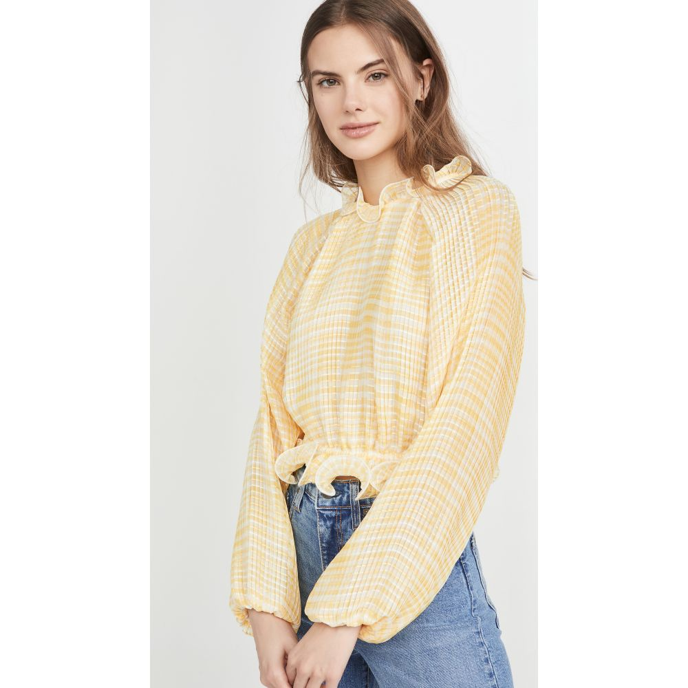 カメオ C/Meo Collective レディース トップス 【Stealing Sunshine Top】Yellow Check