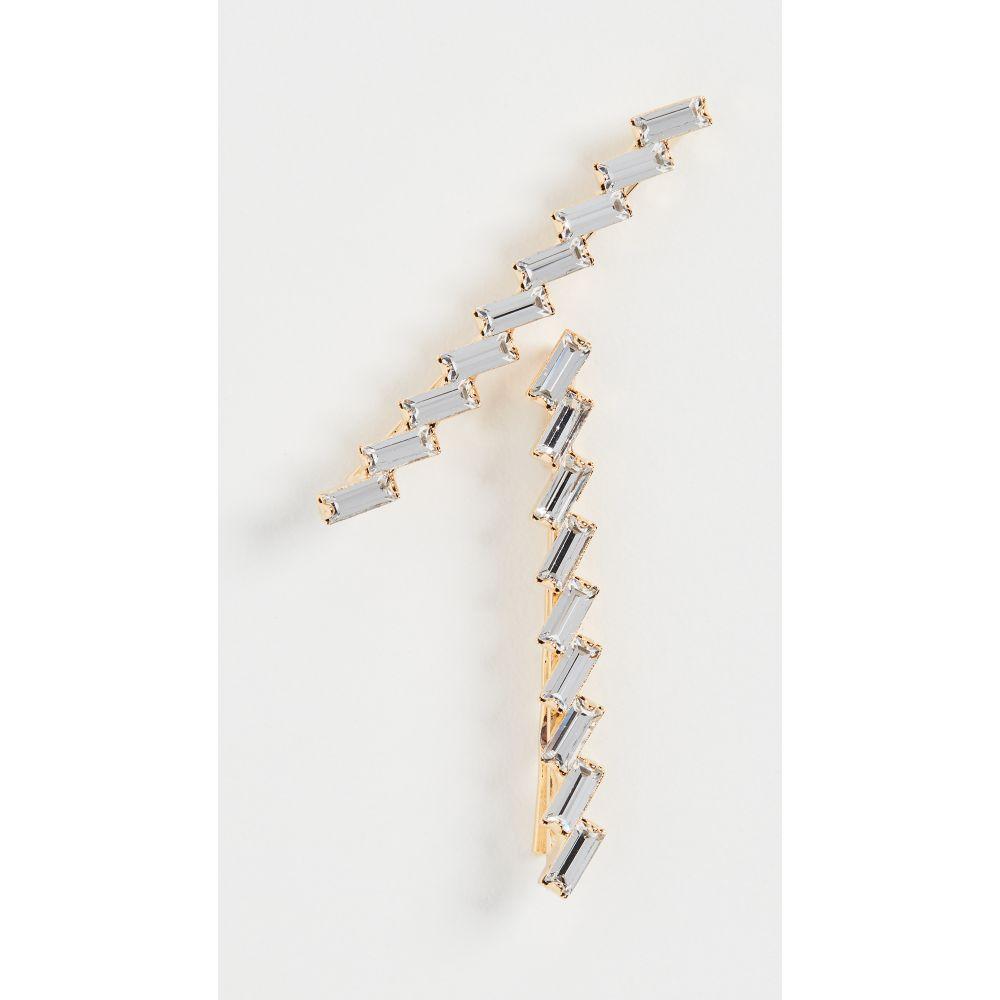 レレット LELET NY レディース ヘアアクセサリー 【Crystal Baguette Pin of Set 2】Crystal