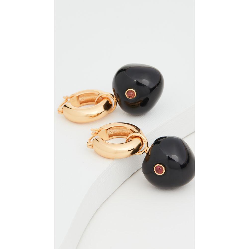 リジー フォルトゥナート Lizzie Fortunato レディース イヤリング・ピアス ジュエリー・アクセサリー【Black Cherry Hoop Earrings】Black/Gold