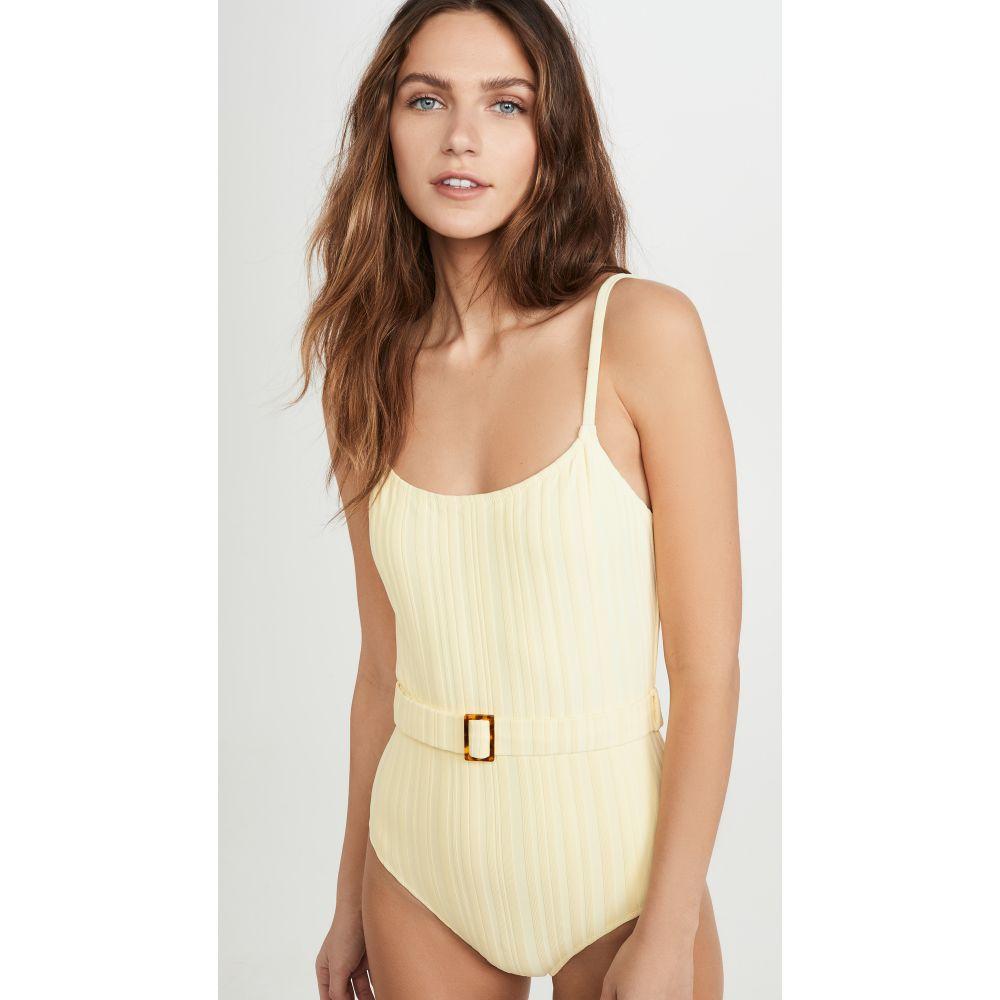 ソリッド&ストライプ Solid & Striped レディース ワンピース 水着・ビーチウェア【Nina Belt One Piece Swimsuit】Blonde Rib