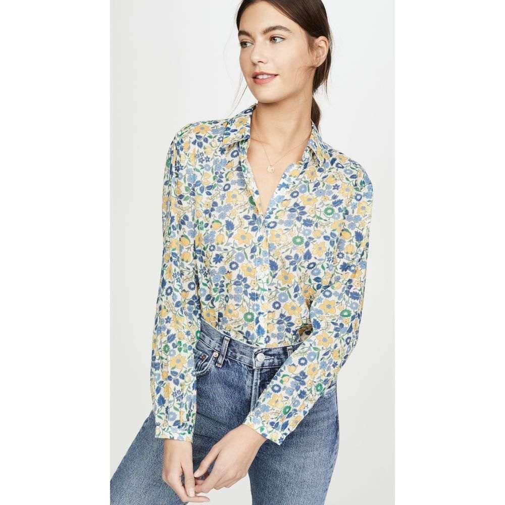 バーズ オブ パラディス Birds of Paradis レディース ブラウス・シャツ トップス【Eden Floral Shirt】Blue/Yellow Floral