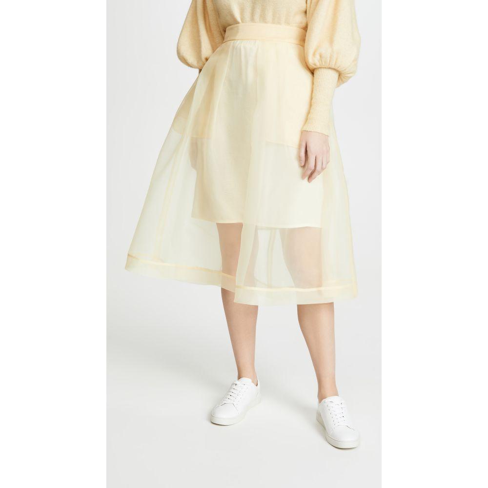 バウム ウンド ヘルガーデン BAUM UND PFERDGARTEN レディース スカート 【Sashenka Skirt】Vanilla Custard Yellow