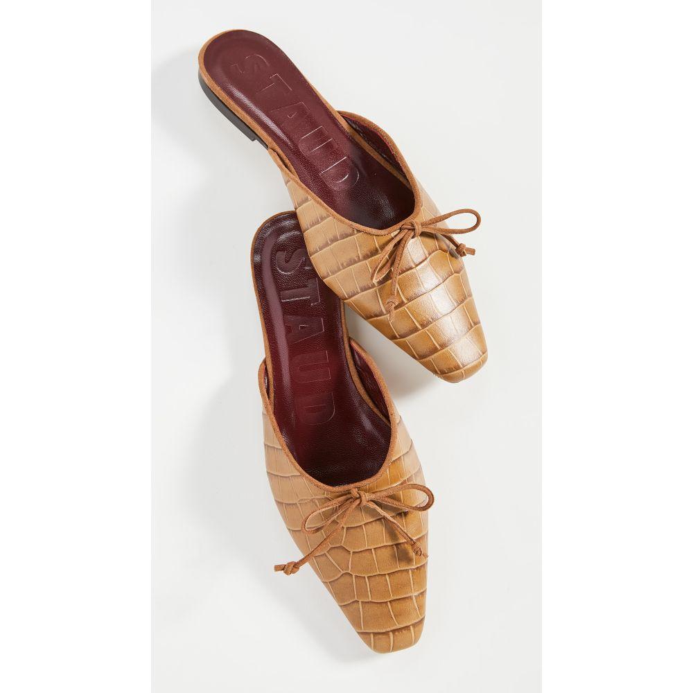 スタウド STAUD レディース サンダル・ミュール シューズ・靴【Gina Mules】Brown