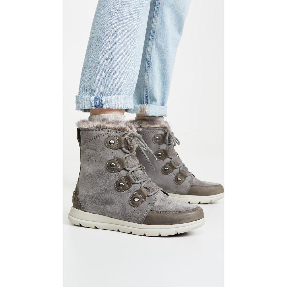 ソレル Sorel レディース ブーツ シューズ・靴【Explorer Joan Boots】Quarry/Black