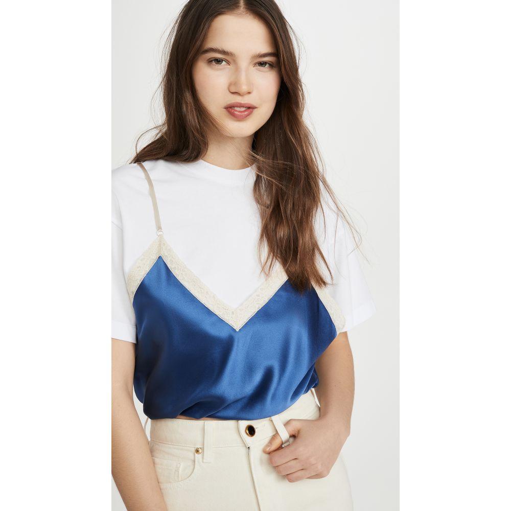 アレキサンダー ワン Alexander Wang レディース スリップ・キャミソール インナー・下着【Draped T-Shirt Cami Hybrid】Petal Blue
