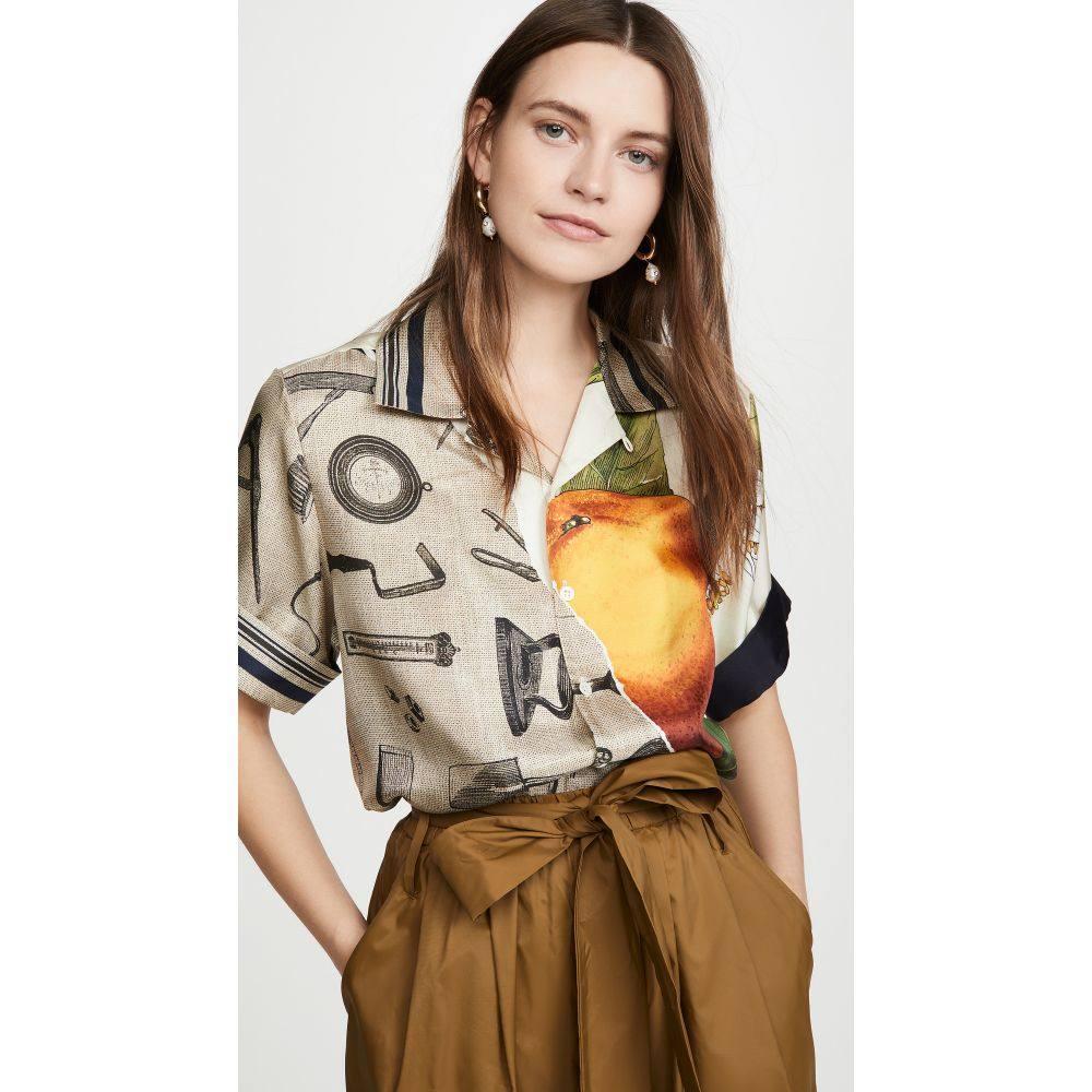 モンス Monse レディース ブラウス・シャツ トップス【Grove And Toolbox Havana Shirt】Burlap Multi