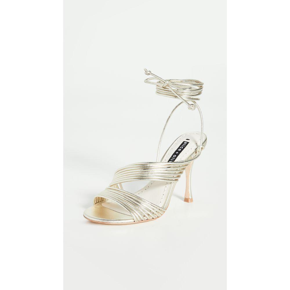 アリス アンド オリビア alice + olivia レディース サンダル・ミュール シューズ・靴【Danessa Sandals】Pale Gold