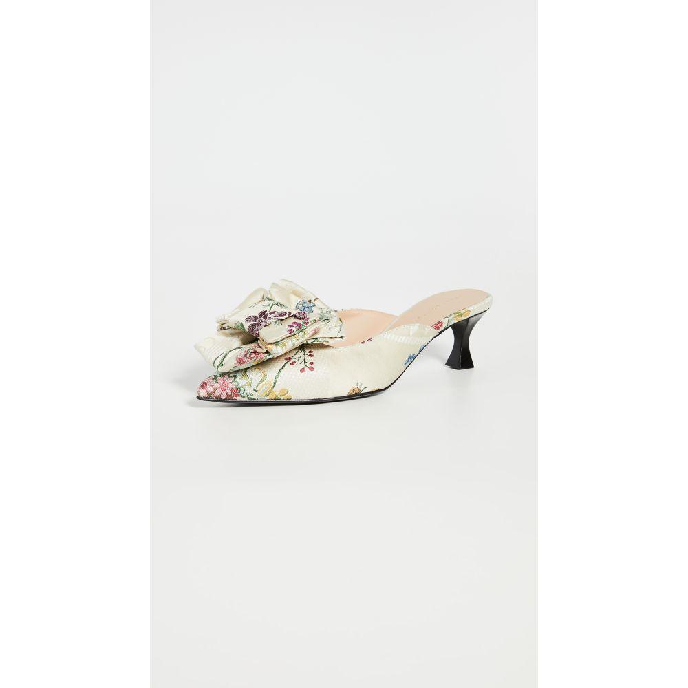 ブロック コレクション Brock Collection レディース サンダル・ミュール シューズ・靴【Bow Mules】Jacquard Floral/Ecru