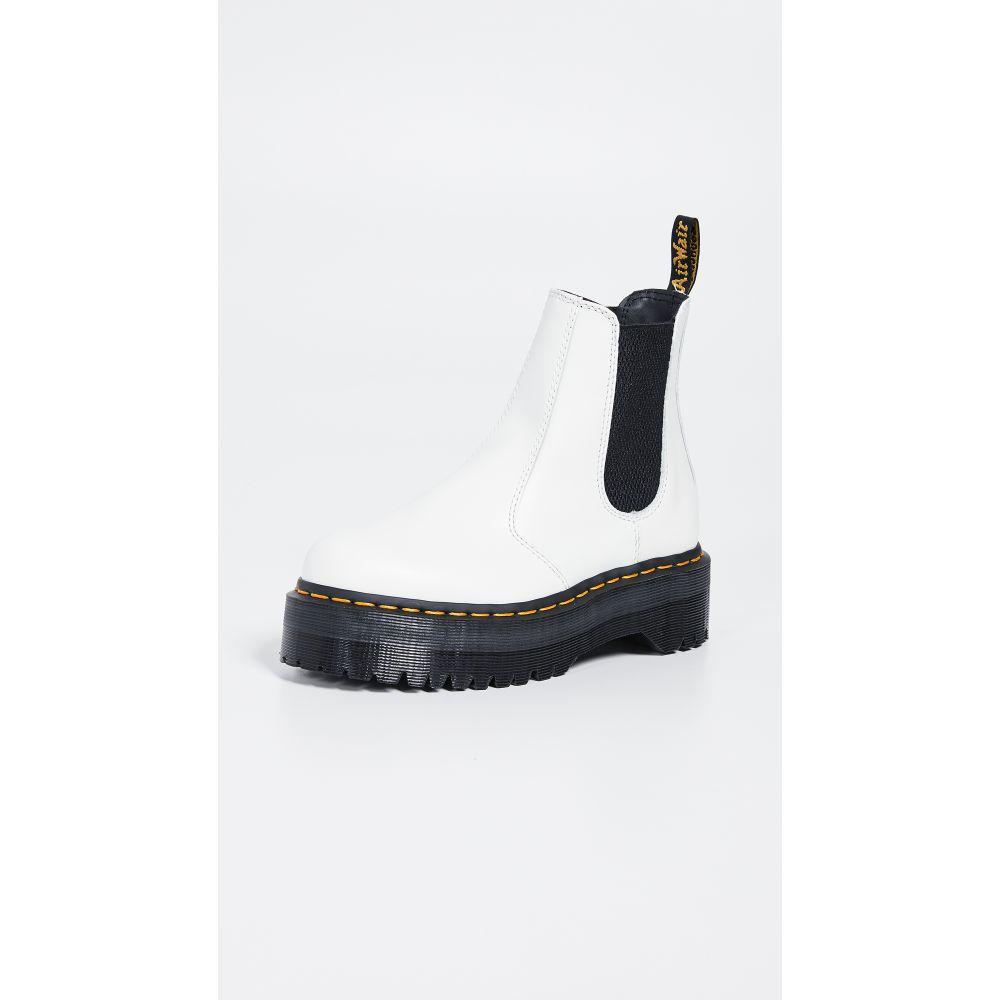 ドクターマーチン Dr. Martens レディース ブーツ チェルシーブーツ シューズ・靴【2976 Quad Chelsea Boots】White