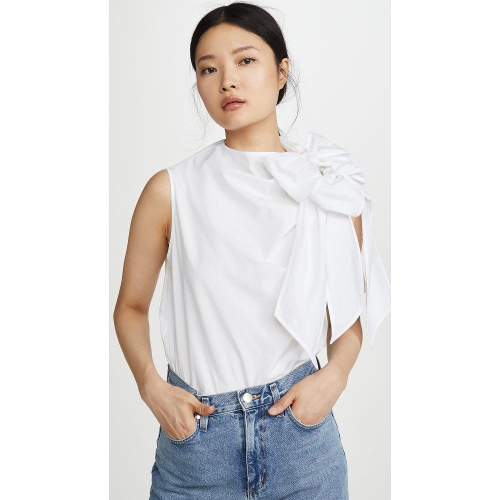 ガニー GANNI レディース ブラウス・シャツ トップス【Cotton Poplin Blouse】Bright White