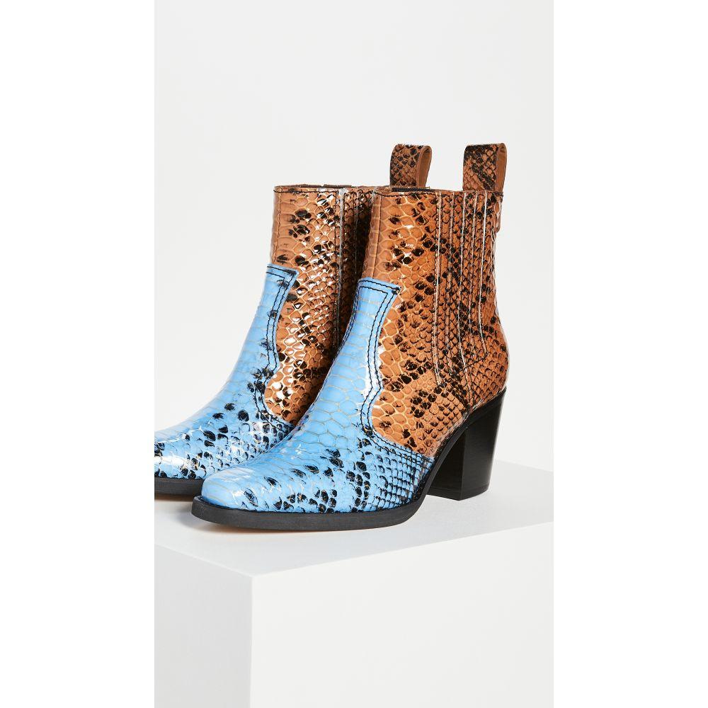 ガニー GANNI レディース ブーツ ブーティー シューズ・靴【Western Booties】Brunnera Blue