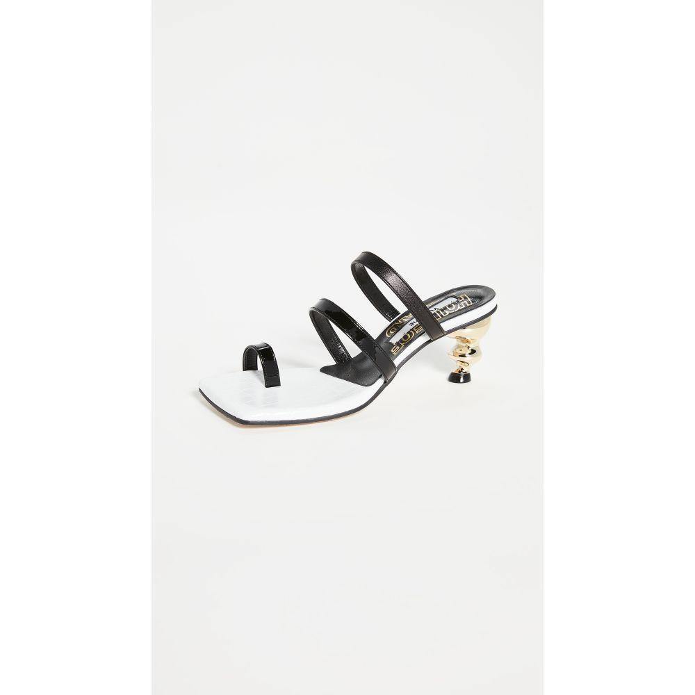 ハウス オブ ホーランド House of Holland レディース サンダル・ミュール シューズ・靴【Sunrise Sandals】Black/White