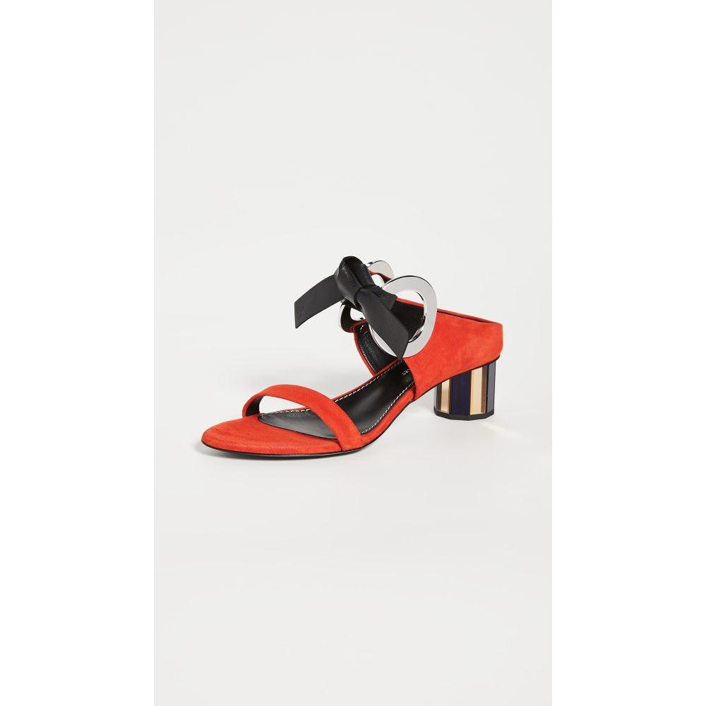プロエンザ スクーラー Proenza Schouler レディース サンダル・ミュール シューズ・靴【Front Tie Mule Sandals】Red