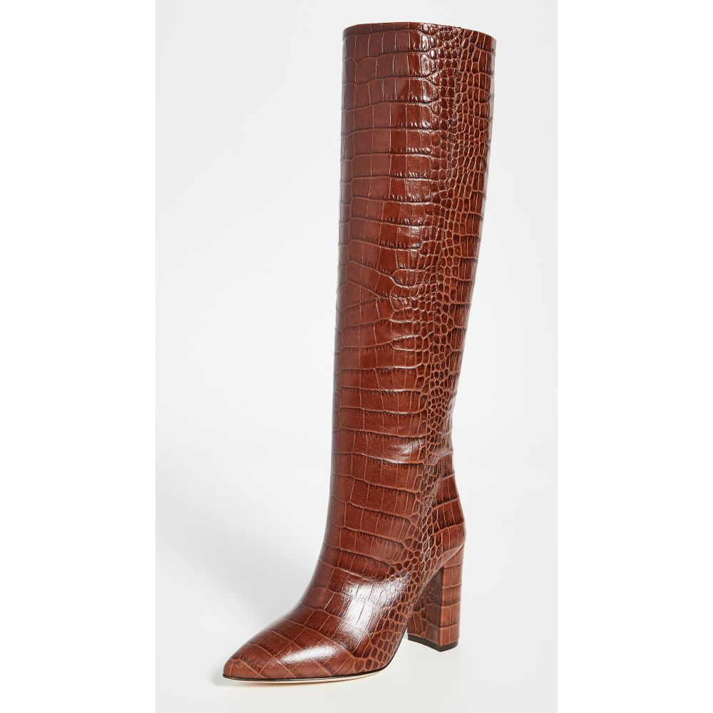 パリ テキサス Paris Texas レディース ブーツ シューズ・靴【100mm Moc Croco Boots】Brown