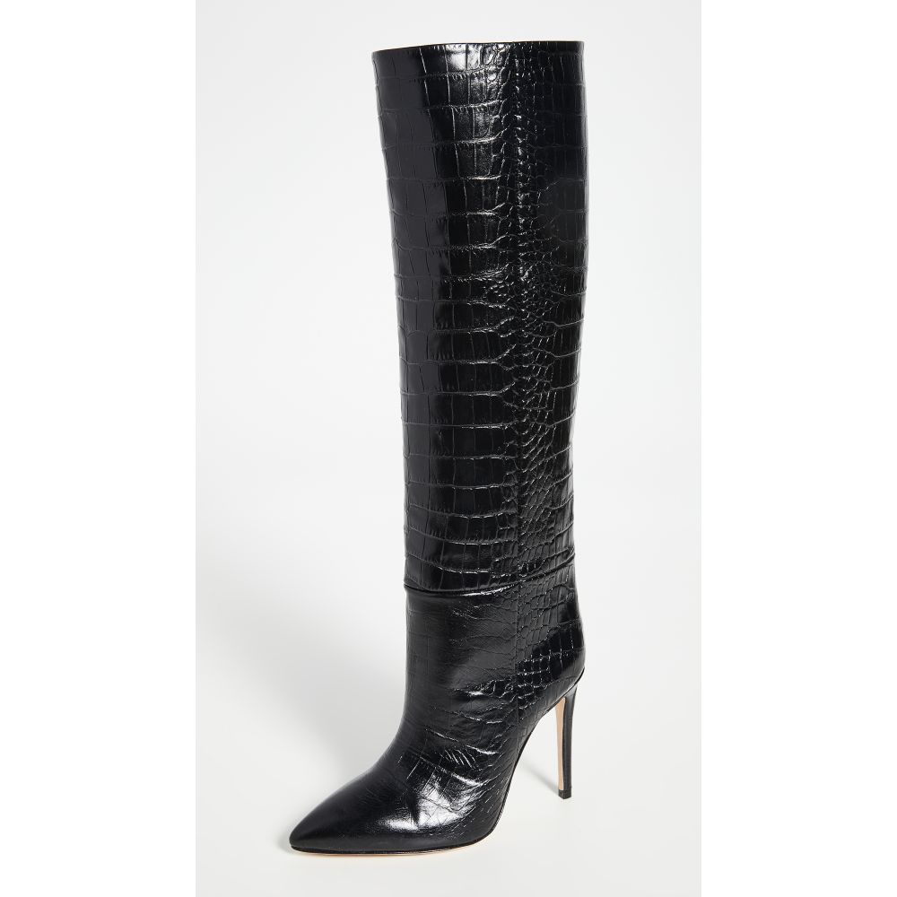 パリ テキサス Paris Texas レディース ブーツ ピンヒール シューズ・靴【Moc Croco Tall Boots Stiletto Heel】Black
