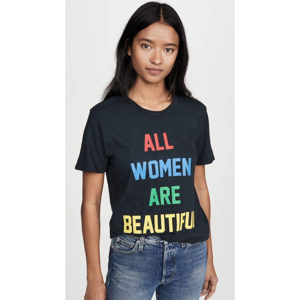 ロマンス Rxmance レディース Tシャツ トップス【All Are Beautiful Tee】Washed Black