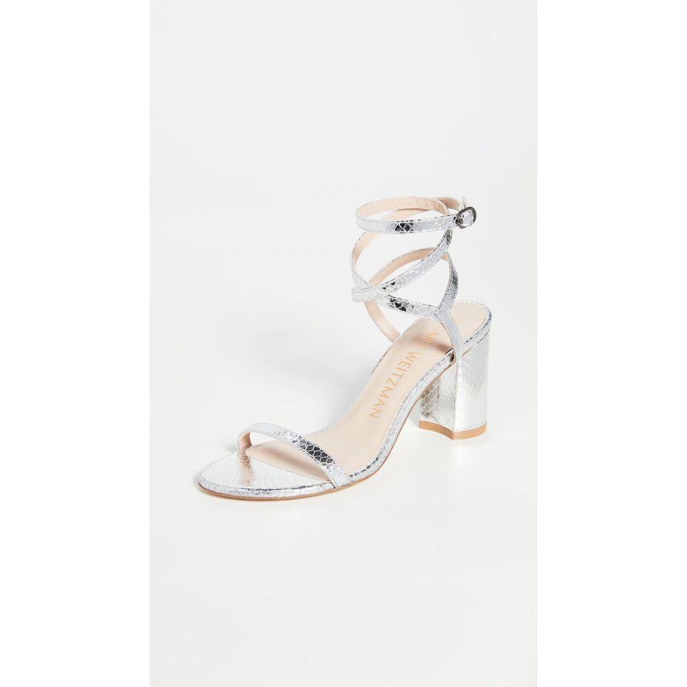 スチュアート ワイツマン Stuart Weitzman レディース サンダル・ミュール シューズ・靴【Merinda Block Sandals】Silver