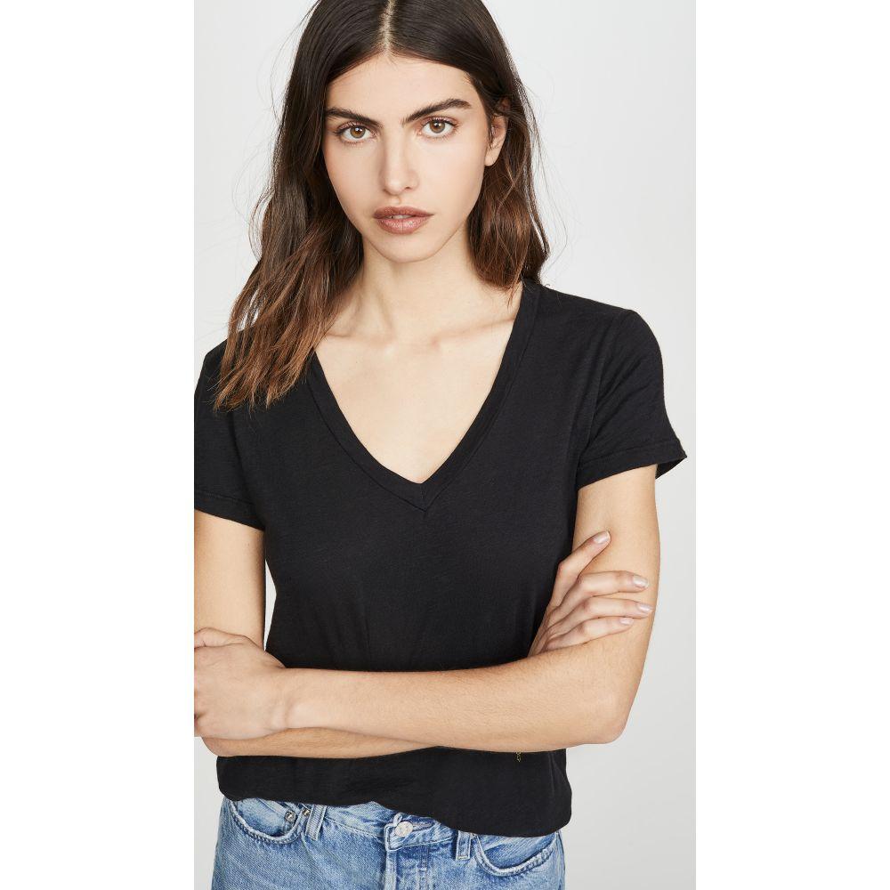 サンドリー SUNDRY レディース Tシャツ Vネック トップス【V Neck T-Shirt】Black