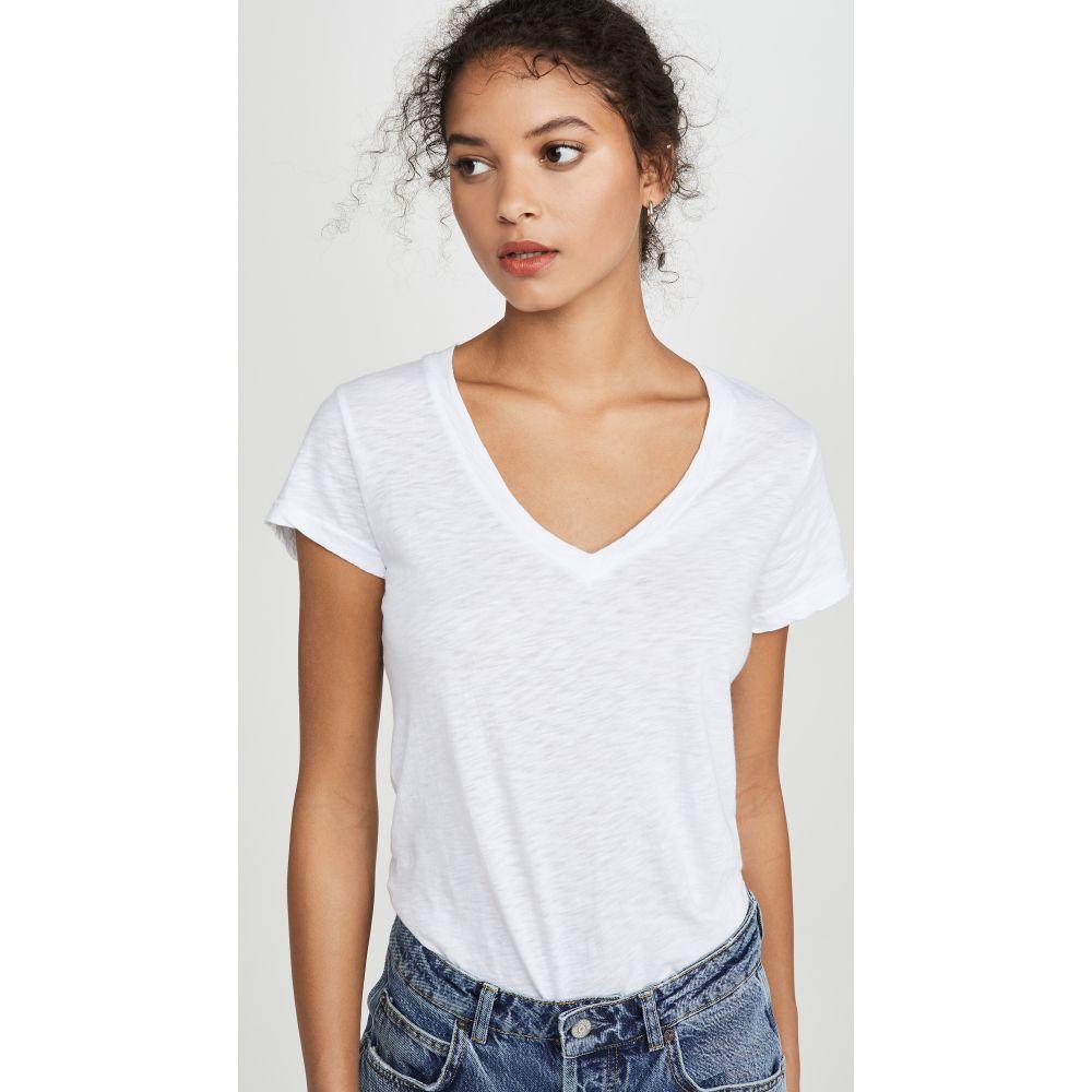 サンドリー SUNDRY レディース Tシャツ Vネック トップス【V Neck T-Shirt】White