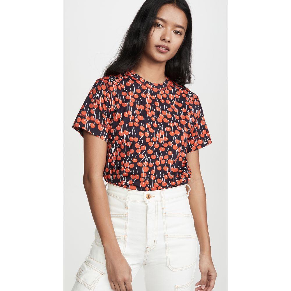 ヴィクトリア ベッカム Victoria Victoria Beckham レディース Tシャツ トップス【Cherry Print T-Shirt】Cherries Midnight